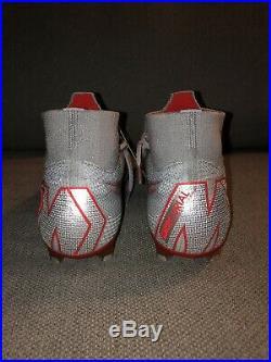 Nike Mercurial Superfly VI 6 360 Elite FG Soccer Gray Red AH7365-060 Mens 8