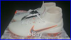 Nike Mercurial Superfly VI Elite DF FG, White/Orange, Size 10 (AH7365107)
