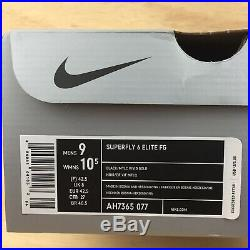 Nike Mercurial Superfly VI Elite FG ACC Mens Sz 9 Soccer Cleats Black Gold