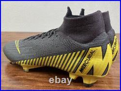 Nike Mercurial Superfly VI Elite FG Men's Size 10 Soccer Cleats Grey AH7365-071
