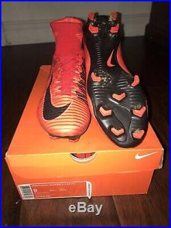 Nike Mercurial Superfly V 5 FG Soccer Cleats Obsidian Blue 831940-414 US Size 9