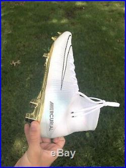 Nike Mercurial Superfly V CR7 SIZE 11.5 US VITORIAS PLATNIUM GOLD BALLON 705/777