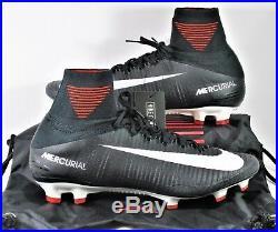 Nike Mercurial Superfly V DF FG Flyknit ACC Black & White Sz 9 NEW 831940 002