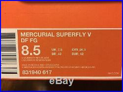 Nike Mercurial Superfly V DF FG-size 8.5 Mens