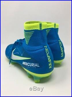 Nike Mercurial Superfly V NJR FG Neymar Blue Cleats 921499-400 Men's Size 8.5