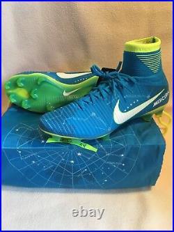 Nike Mercurial Superfly V NJR FG Neymar Blue Soccer Cleats 921499-400 Size 10