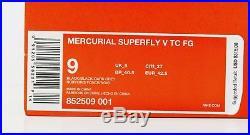 Nike Mercurial Superfly V TC FG Soccer Cleats Black Grey 852509 001 $315 BC