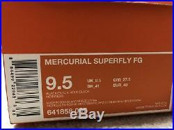 Nike Mercurial Vapor Superfly 4 Fg Sz9.5 Academy Pack Tiempo Hypervenom Magista