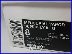 Nike Mercurial Vapor Superfly II US8 UK7 Made in Italy