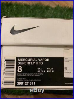 Nike Mercurial Vapor Superfly II ii FG 396127 311 ITALY NEW RARE CR7 R9