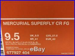 Nike Mercurial Vapor Superfly IV CR FG Sz9.5