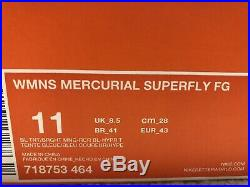 Nike Mercurial Vapor Superfly IV FG Sz9.5 Mns Sz11 Wmns