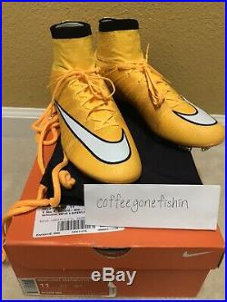 Nike Mercurial Vapor Superfly IV FG US11 Laser Orange Soccer Cleats Football