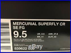 Nike Mercurial Vapor Superfly IV SE Quinhentos FG Sz9.5