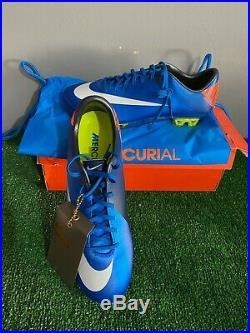 Nike Mercurial Vapor VII Fg Blue Sz 8.5 441976-408 Superfly Cr7 Elite R9 Ronaldo