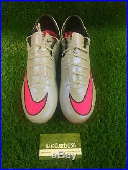 Nike Mercurial Vapor X FG Grey Gray Pink Superfly Ronaldo CR7 BNIB Sz 10.5 11.5