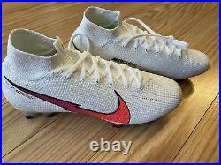 Nike Superfly 7 Elite FG, White/Laser Crimson/Hyper Jade Size 9 AQ4174-163