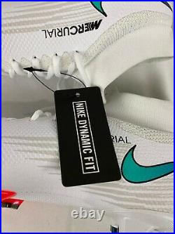 Nike Superfly 7 Pro FG Soccer Cleats White Flash Crimson AT5382-163 Men Size 9