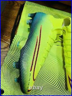 Nike mercurial superfly 360 7 ELITE MDS FG/MG CR7 LEMON VENOM SOCCER CLEATS 8.5
